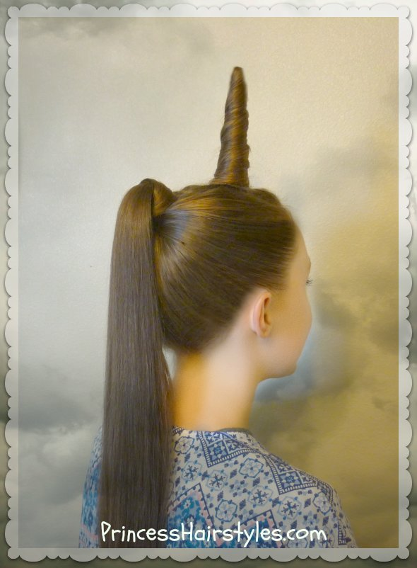 New Unicorn Hairstyle For Halloween Or Crazy Hair Day Ideas With Pictures