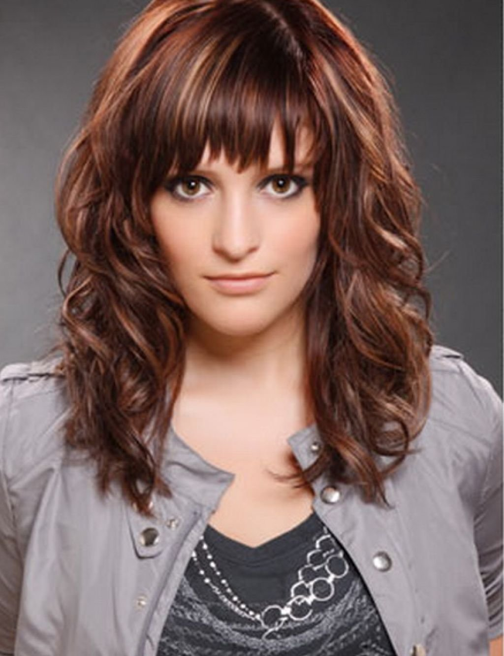 New Cute Hairstyles For Medium Curly Hair With Side Bangs Hairstyle For Women Man Ideas With Pictures