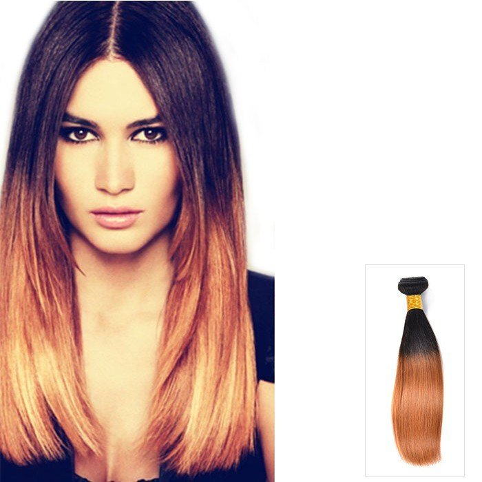 New 16 Inch Ombre Indian Straight Human Hair Extensions Two Ideas With Pictures