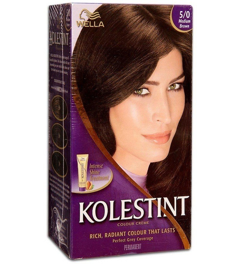 New Wella Kolestint Hair Color Cream Medium Brown Shade No 5 Ideas With Pictures