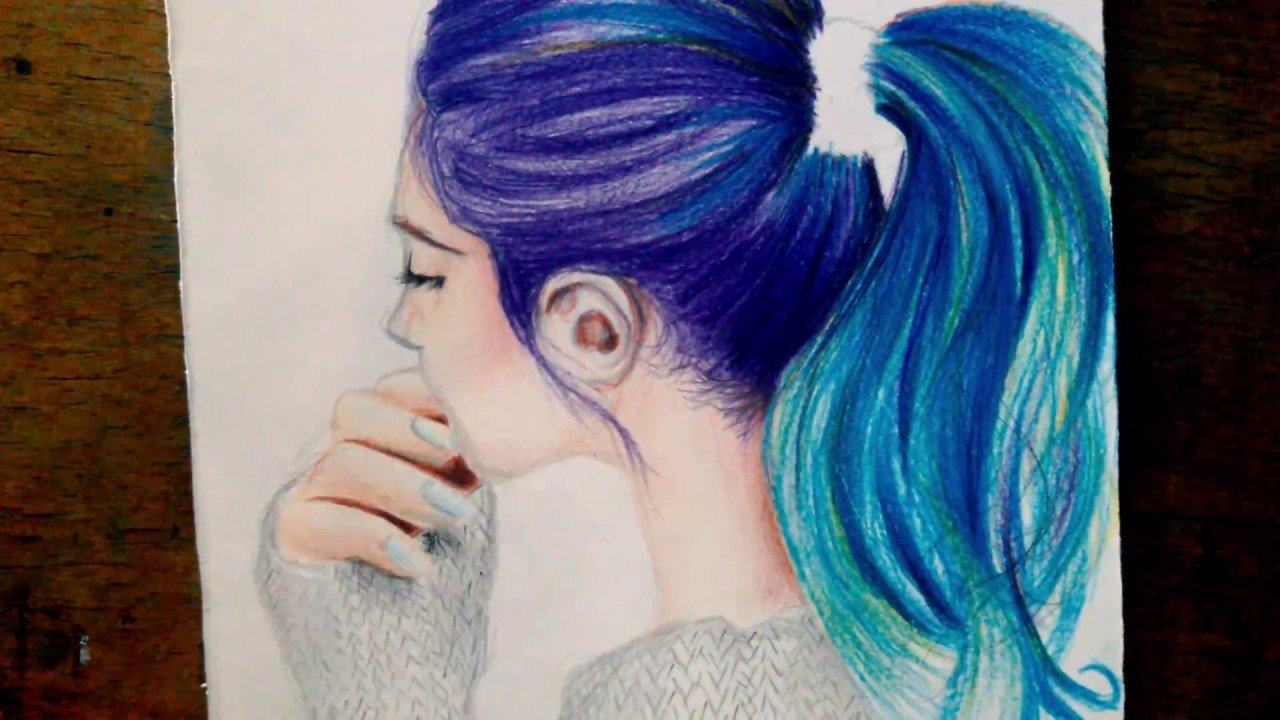 New Drawing Hair Tutorial Easy With Colored Pencil Youtube Ideas With Pictures