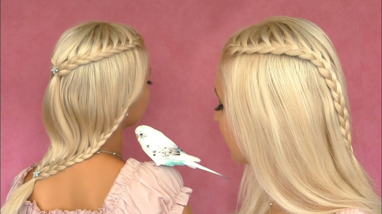 New French Lace Braid Tutorial Cute Hairstyle For Short Medium Ideas With Pictures