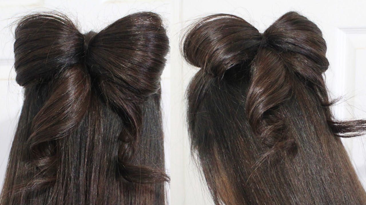 New Hair Bow Tutorial Hairstyle Half Updo For Medium Long Hair Ideas With Pictures