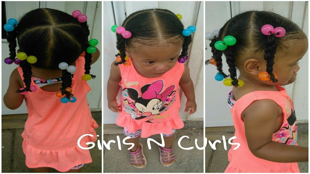 New Easy Hairstyle For 1 Year Old Toddler 5 Ponytails Ideas With Pictures