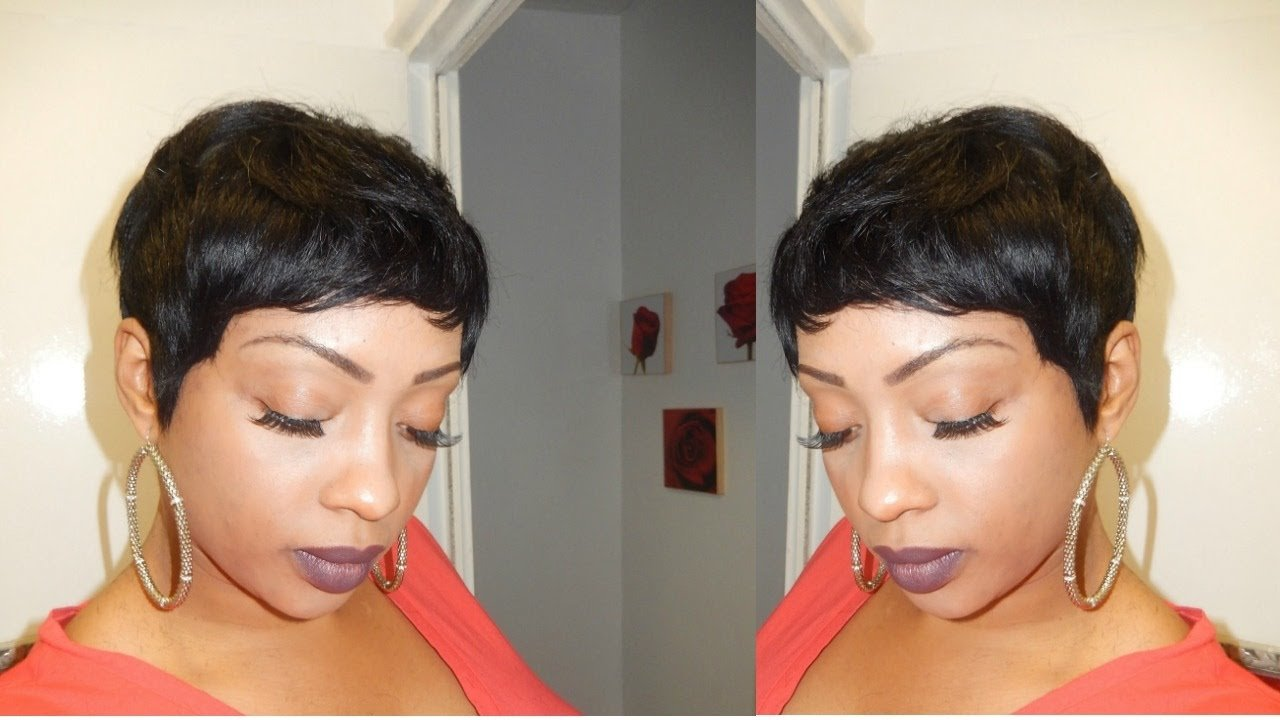 New Pixie Short Wig Using 27 Piece Hair Tutorial Youtube Ideas With Pictures