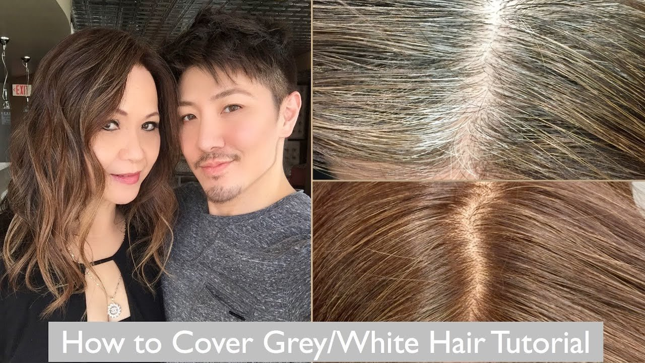New How To Cover Grey White Hair Tutorial Youtube Ideas With Pictures