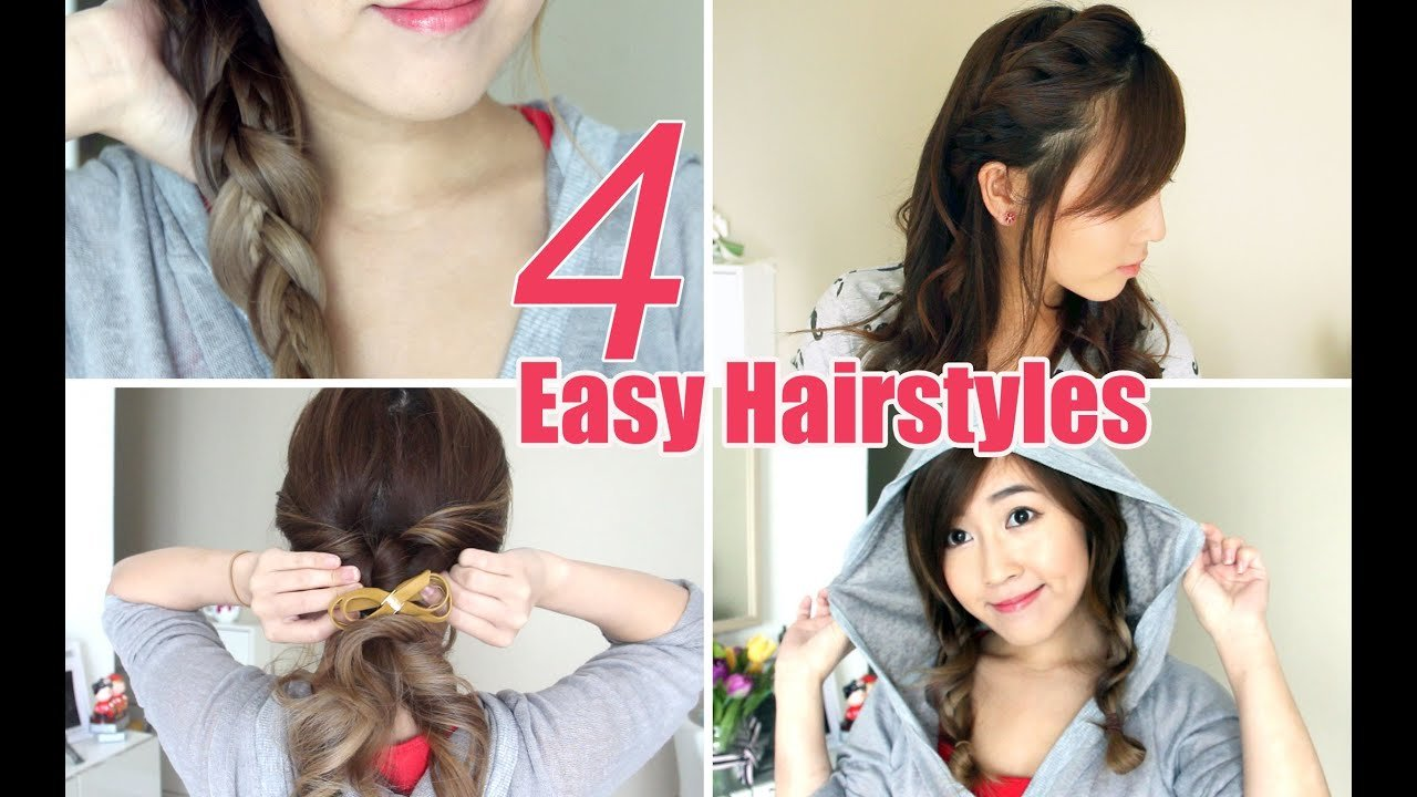 New 4 Easy Cute Hairstyles Youtube Ideas With Pictures