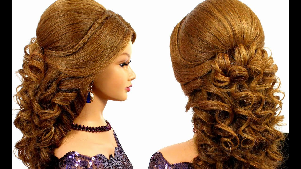 New Romantic Bridal Prom Hairstyle For Long Hair Tutorial Ideas With Pictures