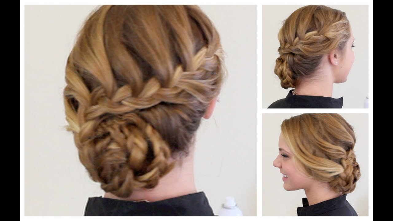 New Braided Formal Updo Youtube Ideas With Pictures