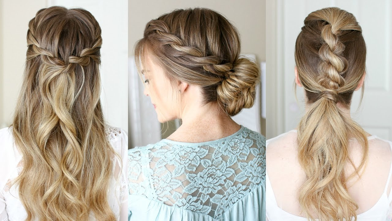 New 3 Easy Rope Braid Hairstyles Missy Sue Youtube Ideas With Pictures