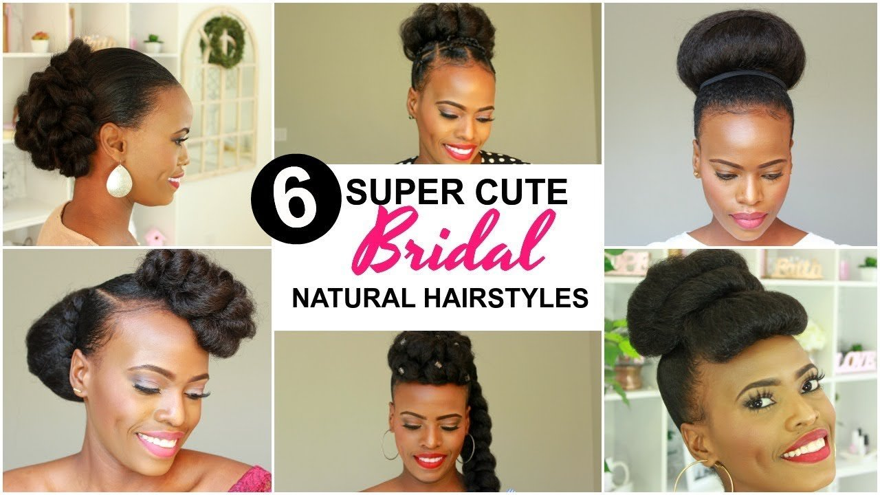 New 2019 Bridal Natural Hairstyles For Black Women Youtube Ideas With Pictures