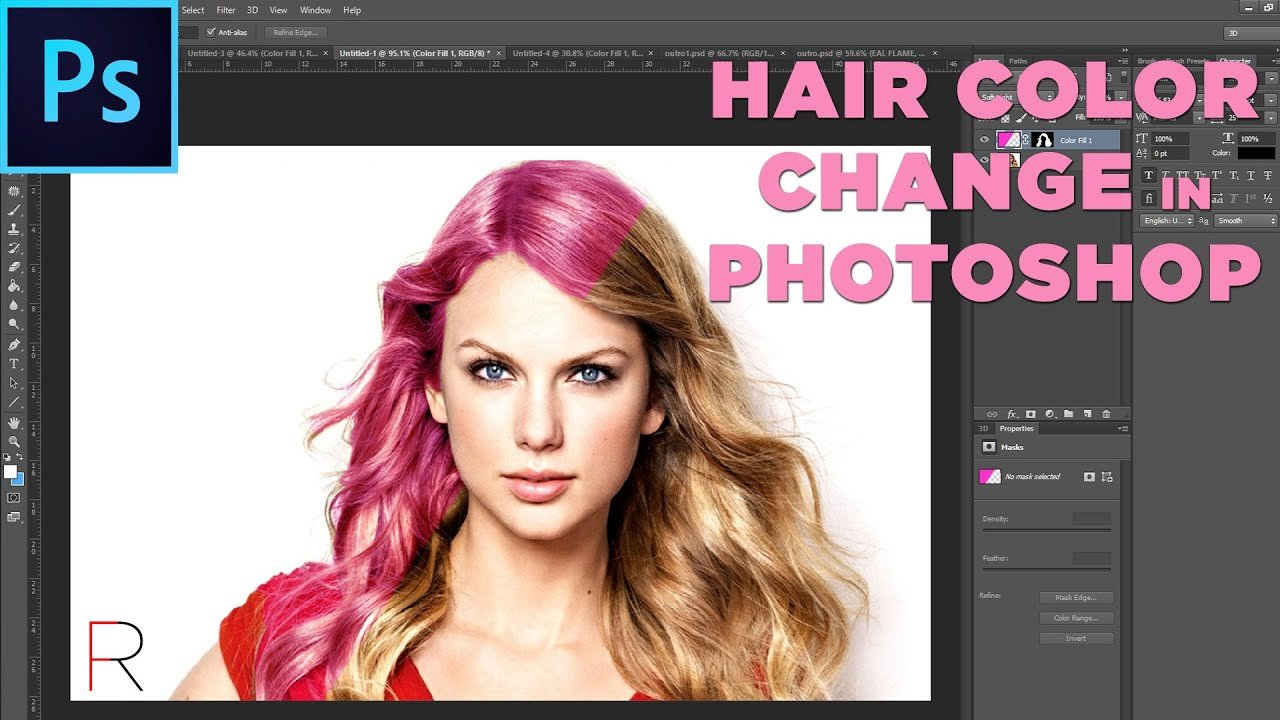 New Hair Color Change Tutorial Adobe Photoshop Realflame Ideas With Pictures