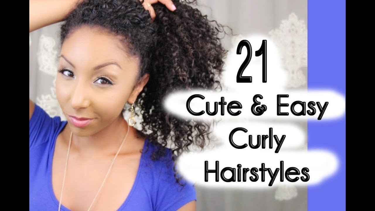 New 21 Cute And Easy Curly Hairstyles Biancareneetoday Youtube Ideas With Pictures