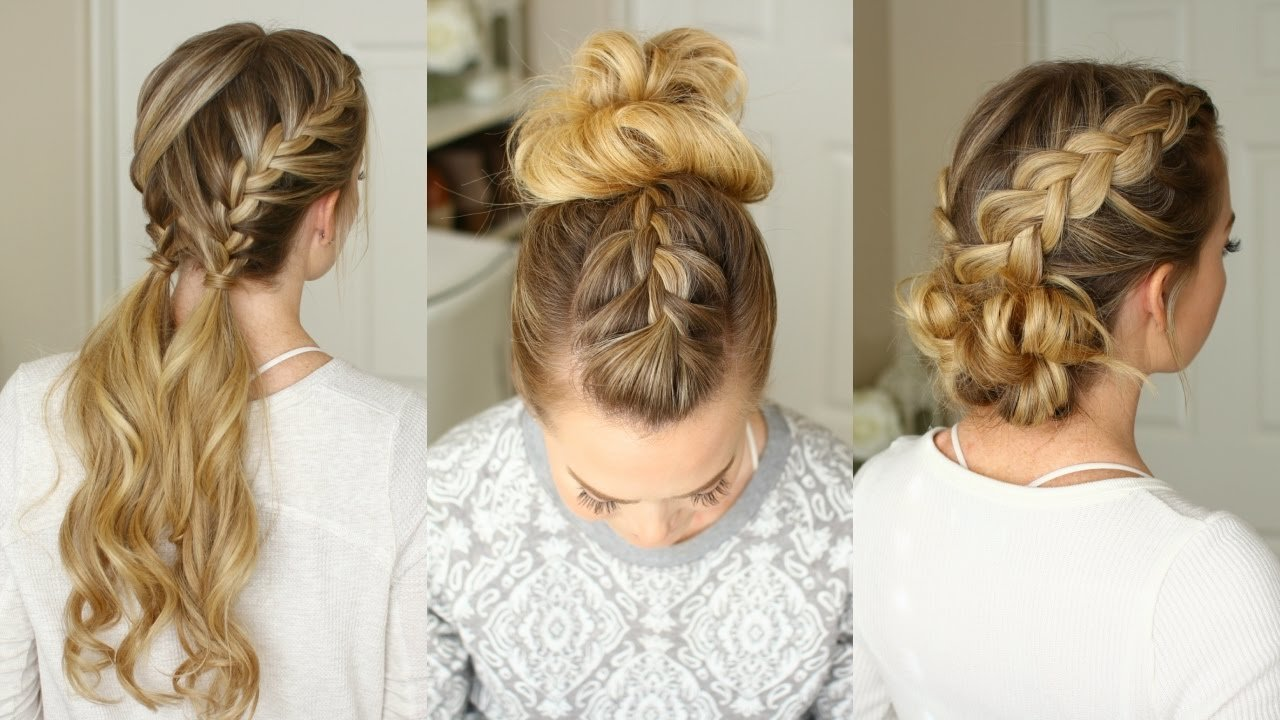 New 3 Easy Braided Hairstyles Missy Sue Youtube Ideas With Pictures