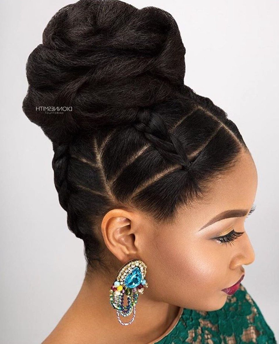 New 2019 Popular Updo Hairstyles For Black Hair Ideas With Pictures
