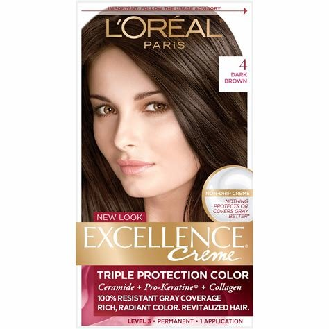 New L Oreal Paris Excellence Creme Hair Color 4 Dark Brown Ideas With Pictures