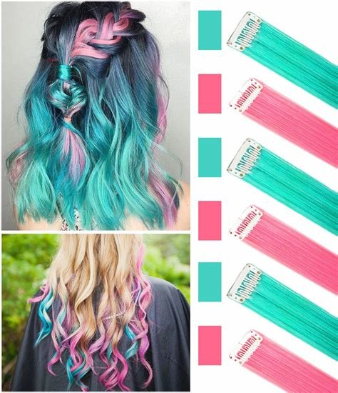 New Amazon Com Colored Hair Extensions Clip In On For Ideas With Pictures