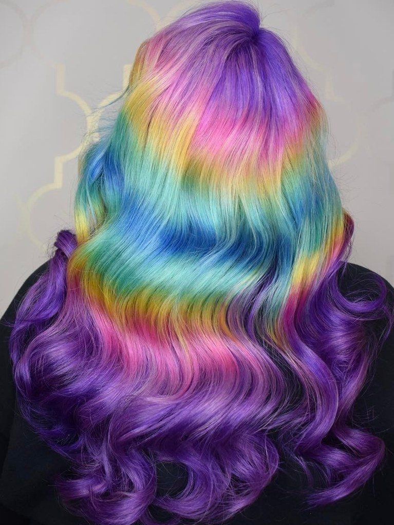 New Shine Line Hair Is The New Rainbow Color Trend On Ideas With Pictures