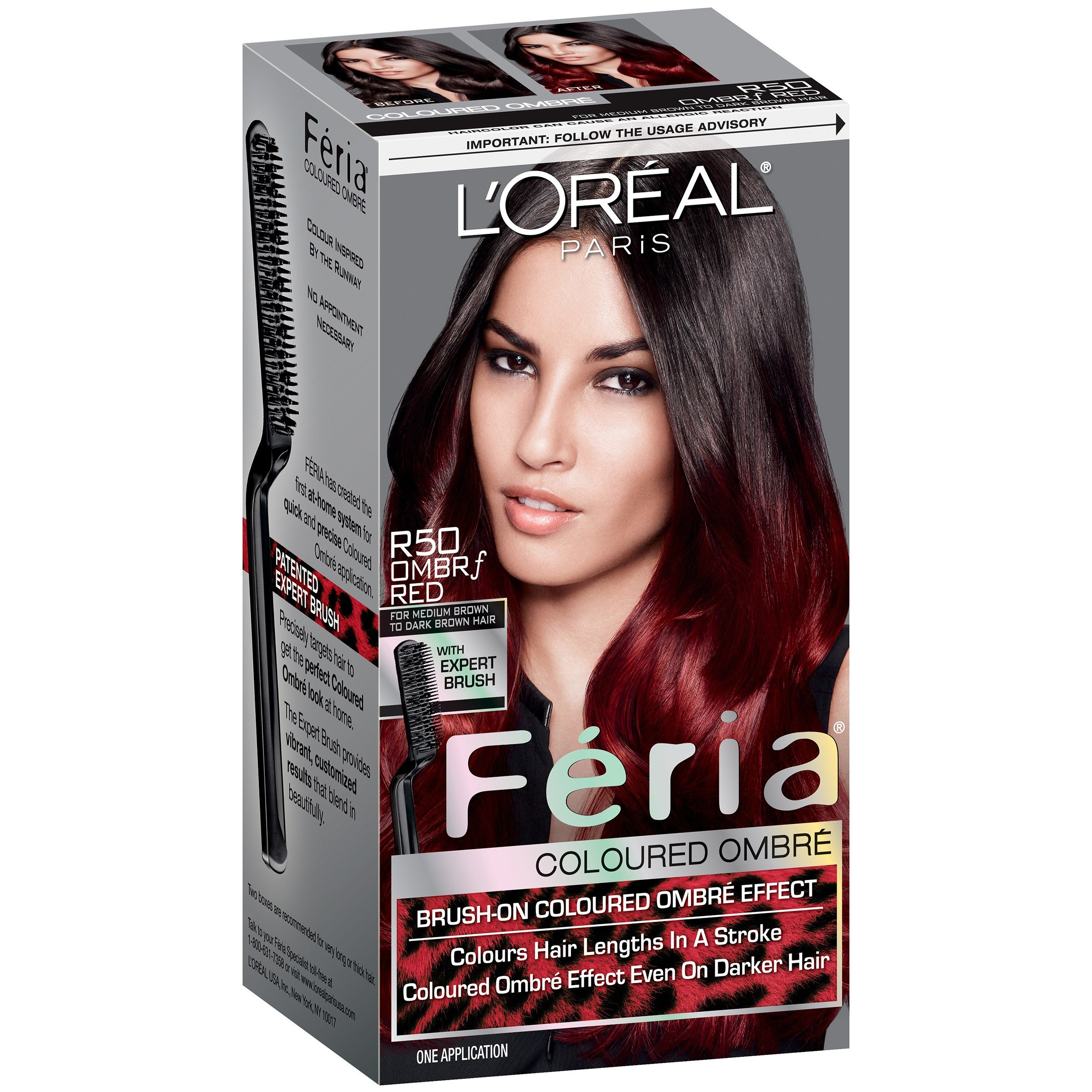 New L Oreal Paris Feria® Coloured Ombre R50 Ombrf Red For Ideas With Pictures