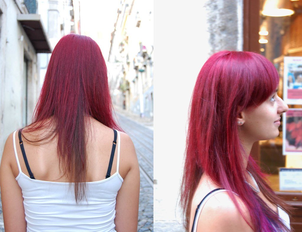 New Hair Color Red Purple Haircut By Silvia Hair Color By Ideas With Pictures