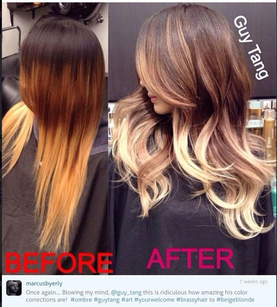 New Guy Tang Ombre Brassy To Ash Correction Hair Ideas Ideas With Pictures