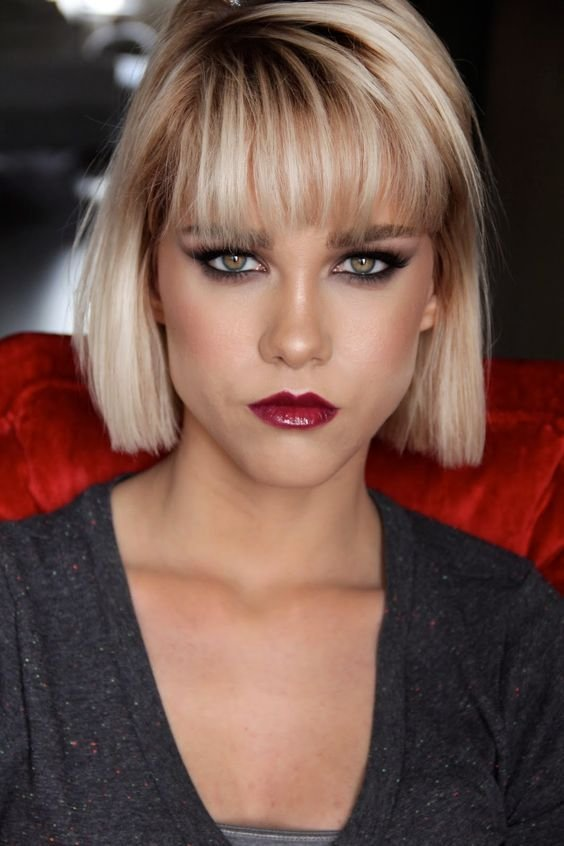 New Dramatic Makeup Bangs And Winged Liner On Pinterest Ideas With Pictures