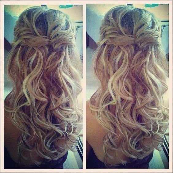 New Half Up Half Down Wedding Hair With Loose Curls We This Ideas With Pictures