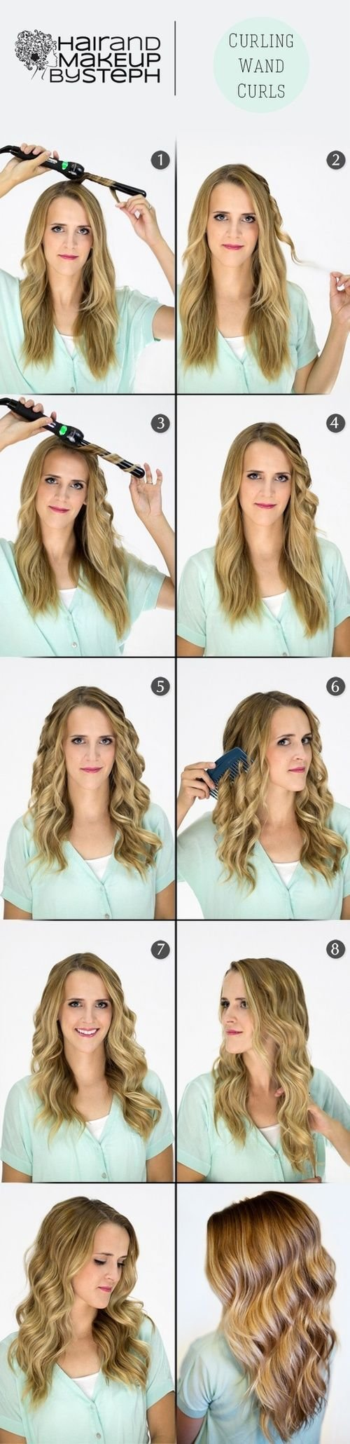 New 1000 Ideas About Curling Wand Curls On Pinterest Easy Ideas With Pictures