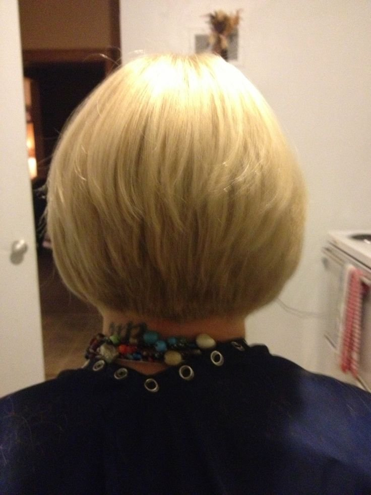 New Short Hair Tapered Bob Back View Hair Pinterest Shorts Bobs And Tapered Bob Ideas With Pictures