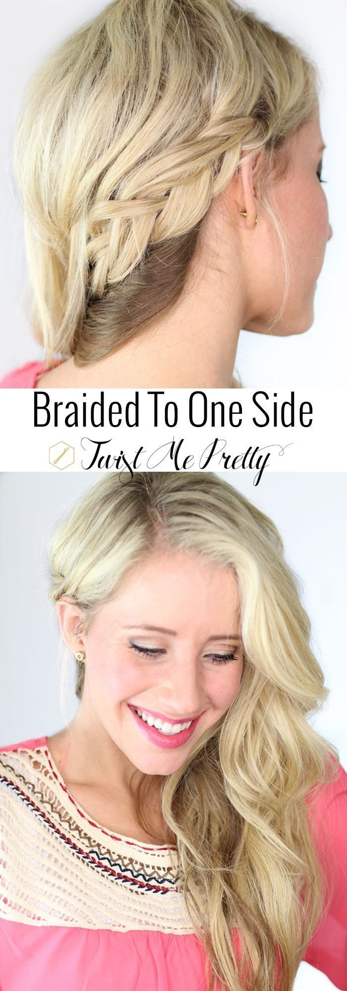 New 1000 Ideas About One Sided Braid On Pinterest Hair Styles For Prom Grad Hairstyles And Ideas With Pictures