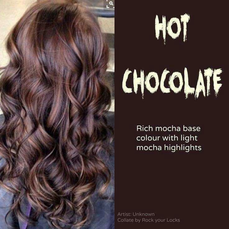 New Hot Chocolate Rich Mocha Base Colour With Light Mocha Highlights Beauty Pinterest Ideas With Pictures