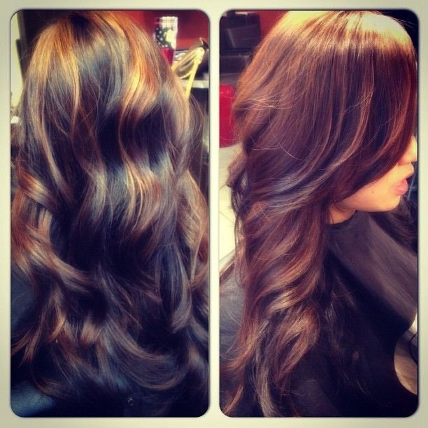 New Black To Dark Brown Dimensional Color Hair Pinterest Ideas With Pictures