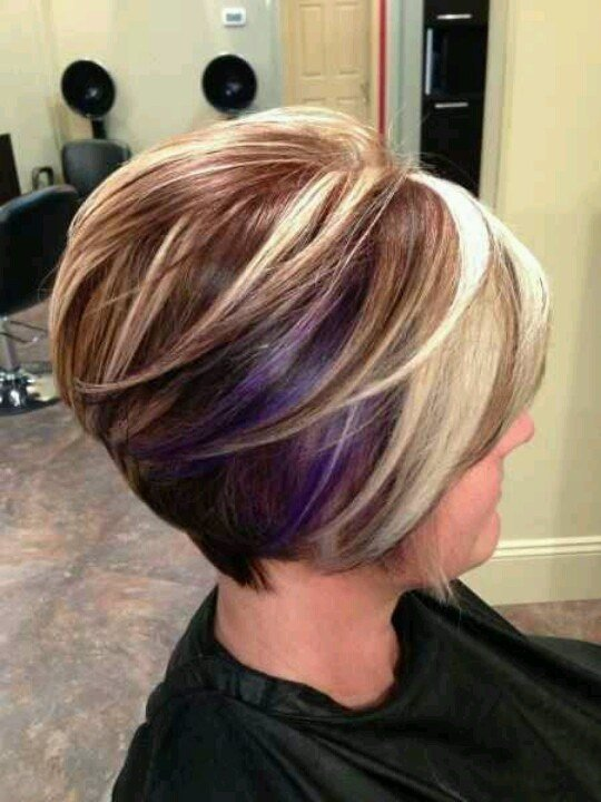 New Bob Haircut Three Tone Highlights Haircolor Pinterest Bobs Highlights And Love The Ideas With Pictures