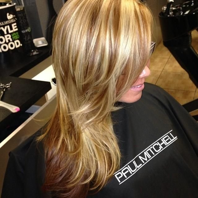 New Caramel Blonde Highlights And Milk Chocolate Low Lights Ideas With Pictures