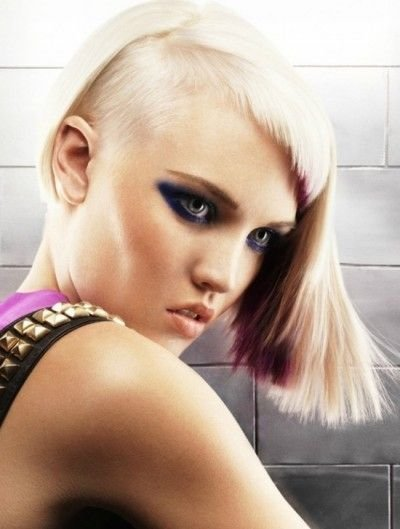 New Gorgeous Half Shaved Style With Short Bangs Half Shaved Ideas With Pictures