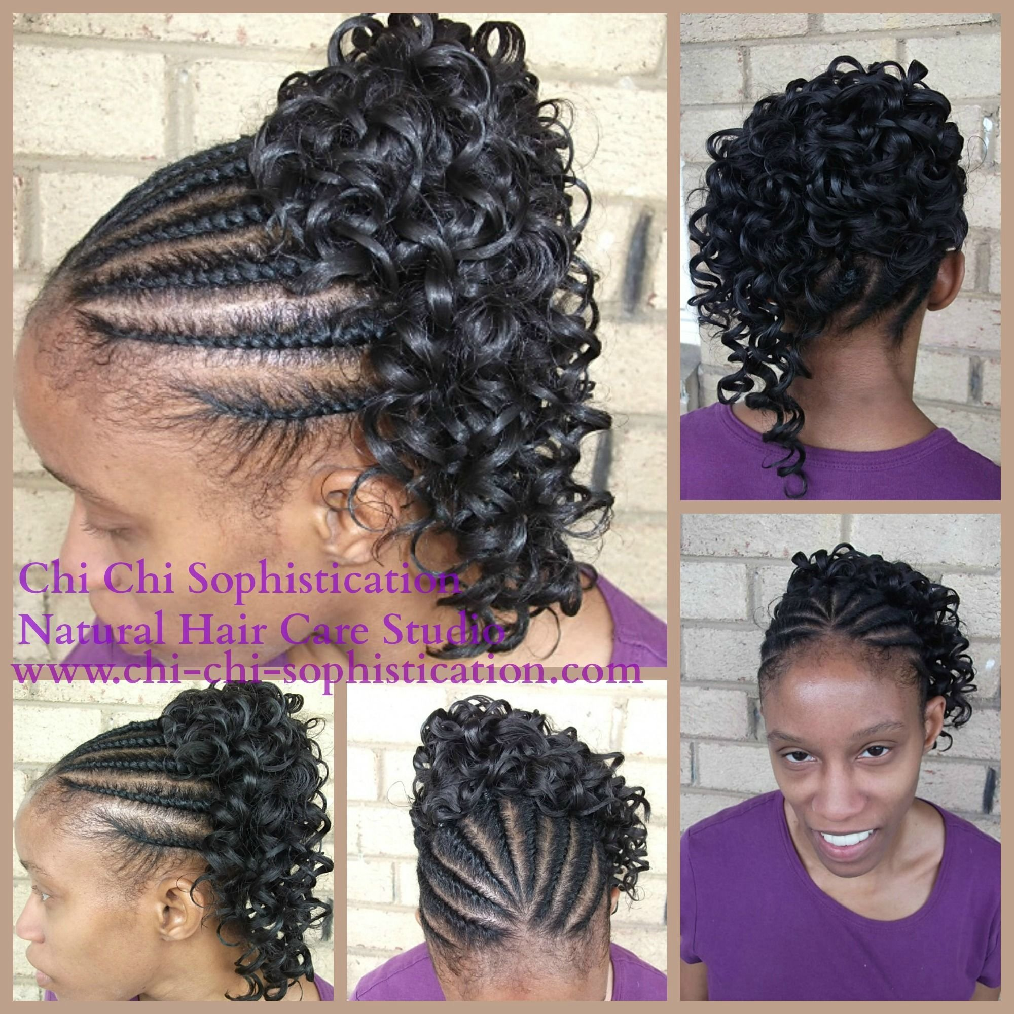 New Natural Flat Twist With Synthetic Ponytail Children Ideas With Pictures
