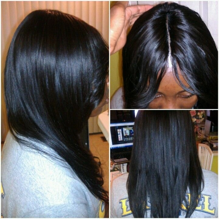 New Invisible Part Sew In Hair Did Pinterest Natural Ideas With Pictures