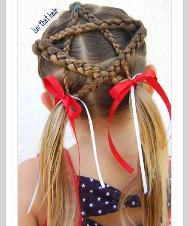 New Braided Star For 4Th Of July Hairstyles For Girls Ideas With Pictures