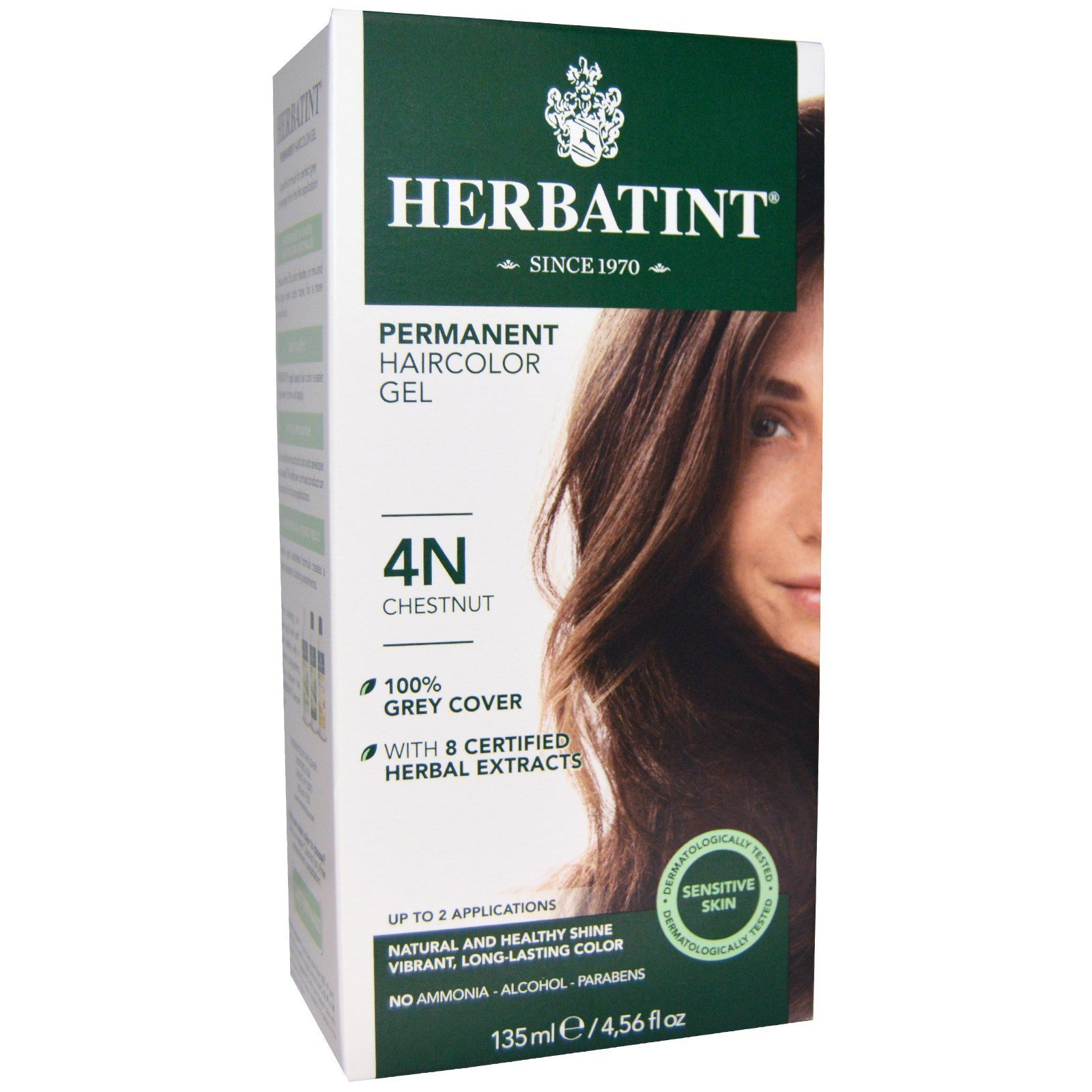 New Herbatint Permanent Haircolor Gel 4N Chestnut 4 56 Fl Ideas With Pictures