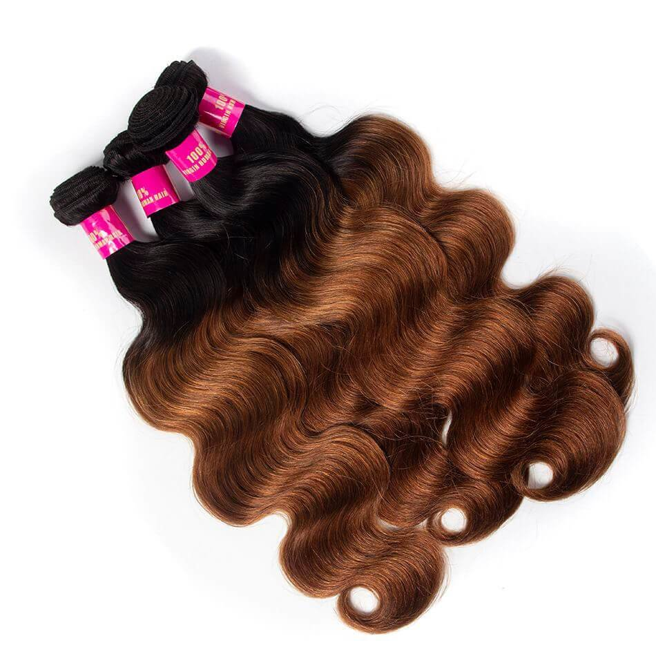 New Ombre Hair 1B 30 Color Brazilian Body Wave 3 Bundles Brown Ideas With Pictures Original 1024 x 768