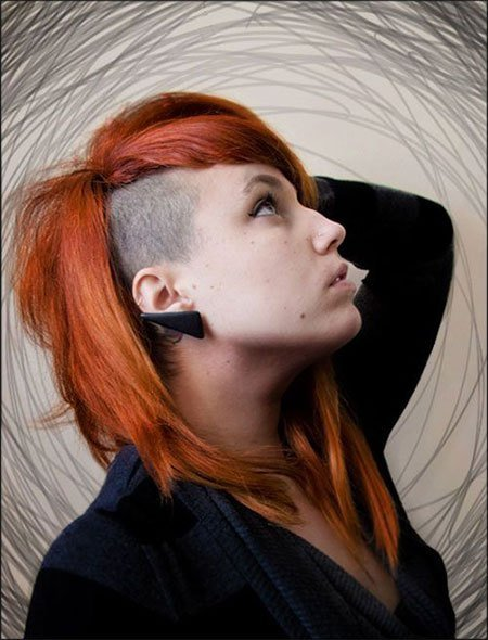 New 30 New One Sided Shaved Hairstyles Haircuts For Girls Ideas With Pictures
