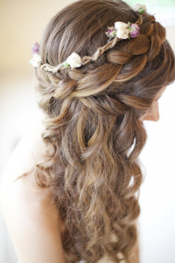 New Romantic Braided Wedding Hairstyles With Beautiful Flowers Ideas With Pictures