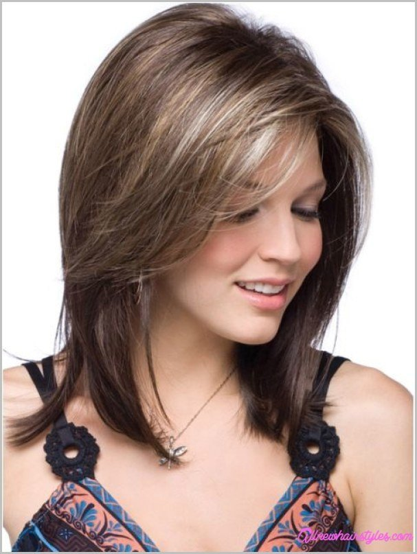 New Medium Length Haircuts With Side Swept Bangs And Layers Allnewhairstyles Com Ideas With Pictures