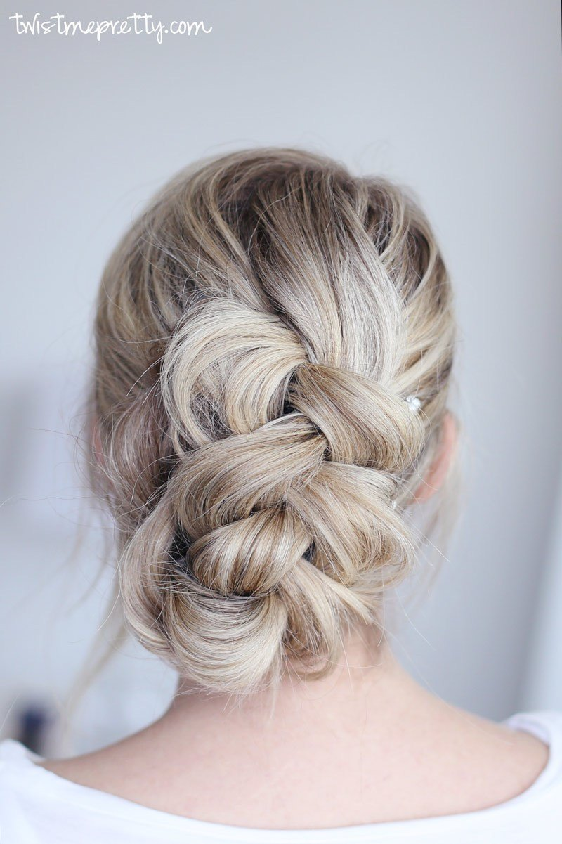 New Easy Braided Updo Twist Me Pretty Ideas With Pictures