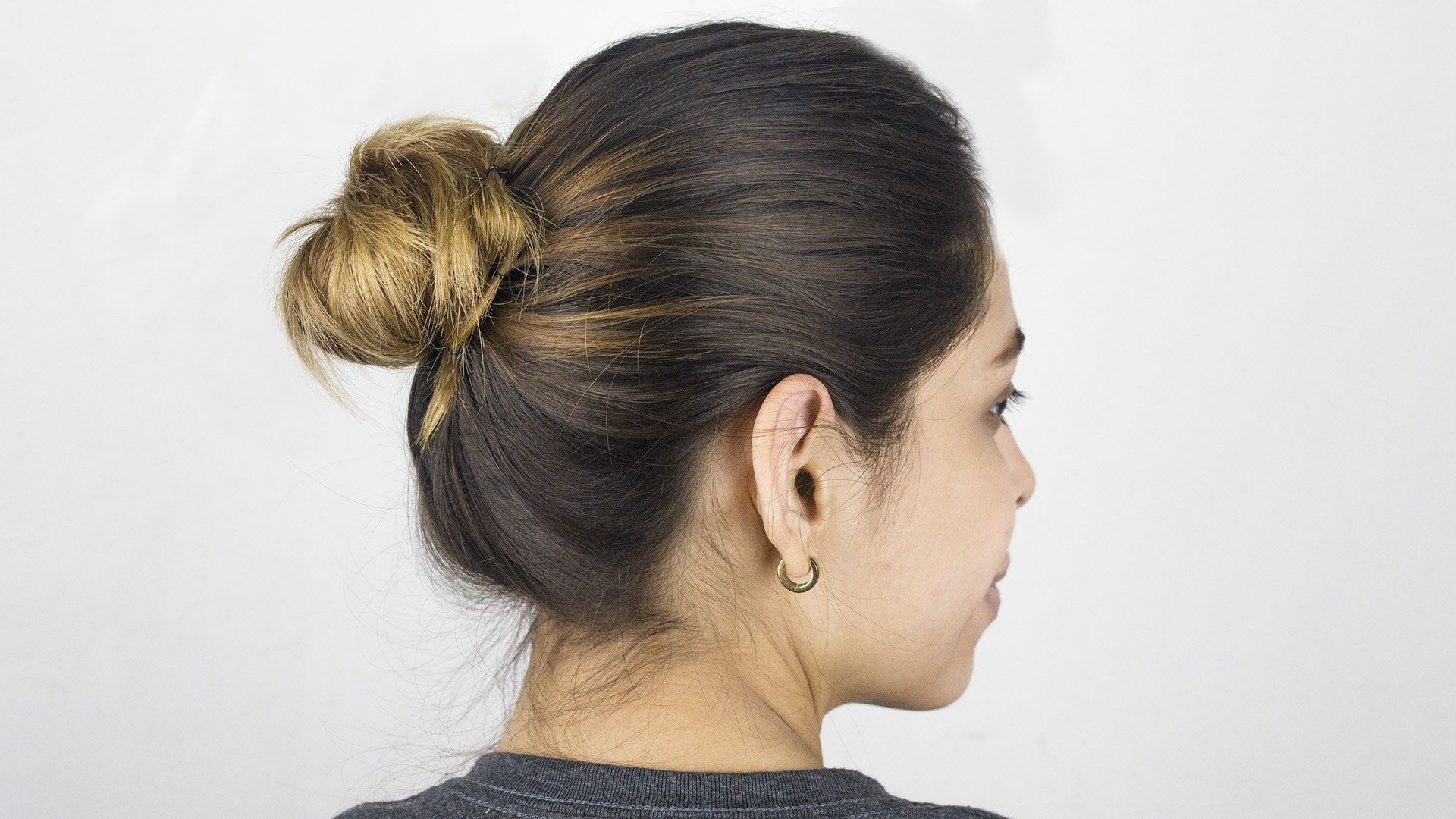 New How To Make A Simple Bun In Hair 9 Steps With Pictures Ideas With Pictures