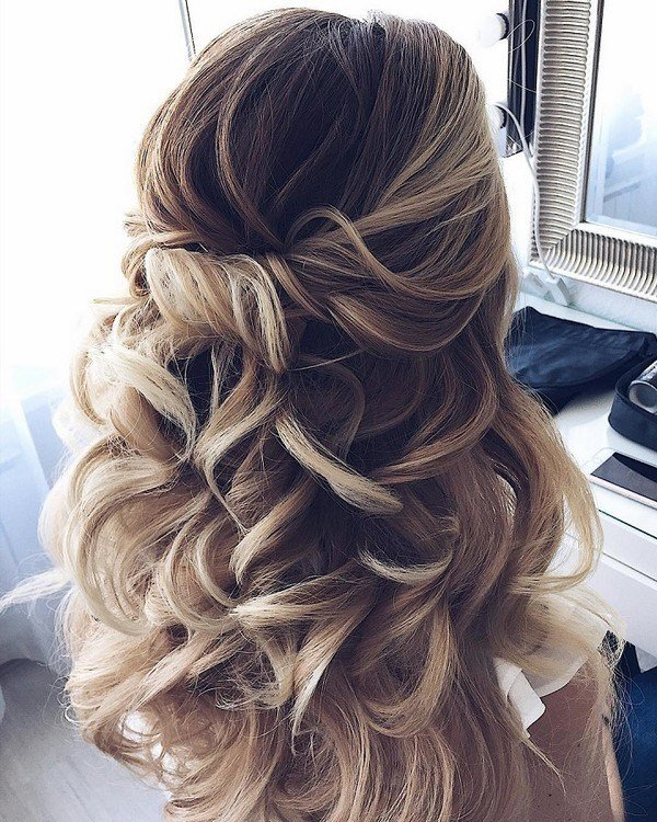 New 15 Chic Half Up Half Down Wedding Hairstyles For Long Hair Ideas With Pictures