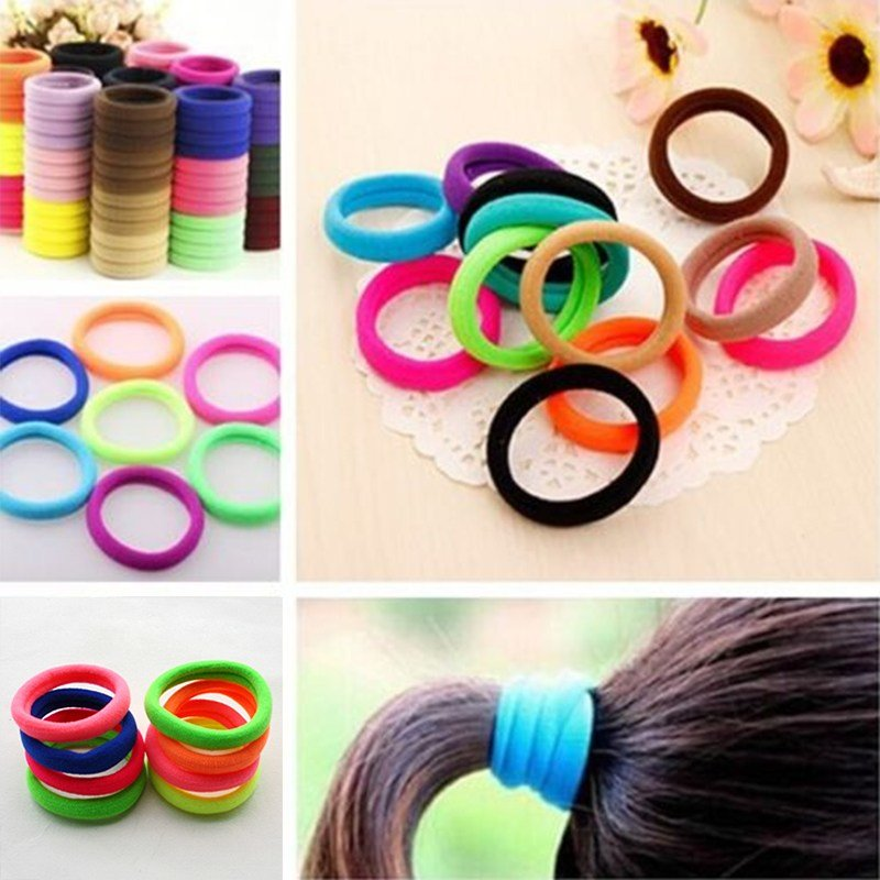 New 10Pcs Girl Candy Color Pony Tail Elastic Hair Bands Tie Ideas With Pictures