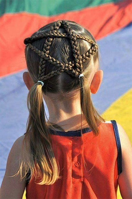 New 20 4Th Of July Hairstyles For Kids Girls 2016 Fourth Ideas With Pictures