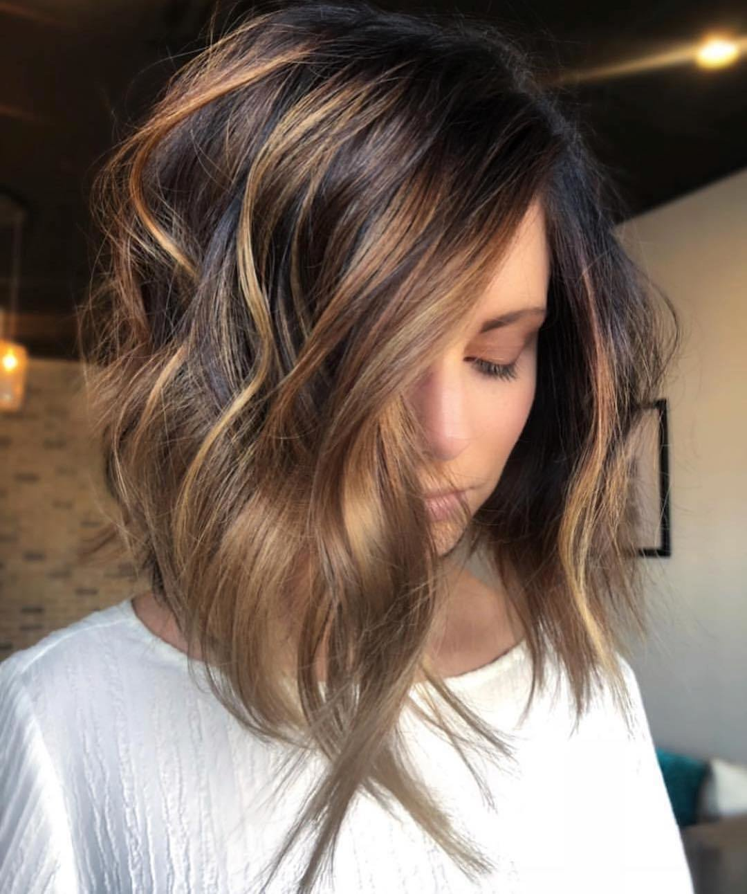 New Stylish Ombre Balayage Hairstyles For Shoulder Length Hair Ideas With Pictures