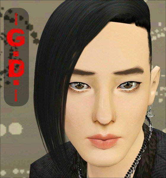 New The Sims 3 Assymetrical Shaved Hairstyle G Dragon By Jasumi Ideas With Pictures